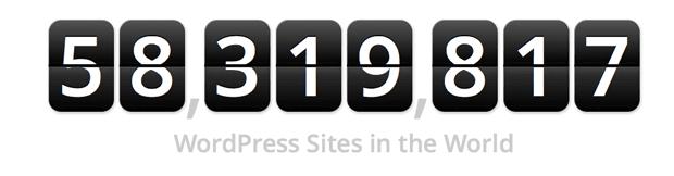 Meer dan 58 miljoen WordPress sites in de wereld