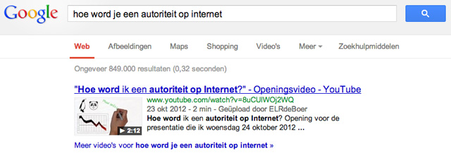 Hoe word je een autoriteit op Internet?