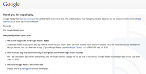 Google-Reader-discontinued