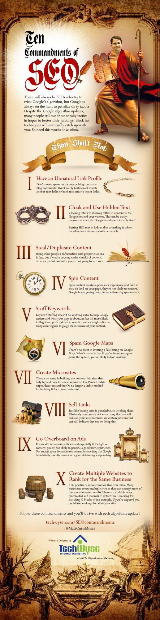Tien Geboden volgens Matt Cutts