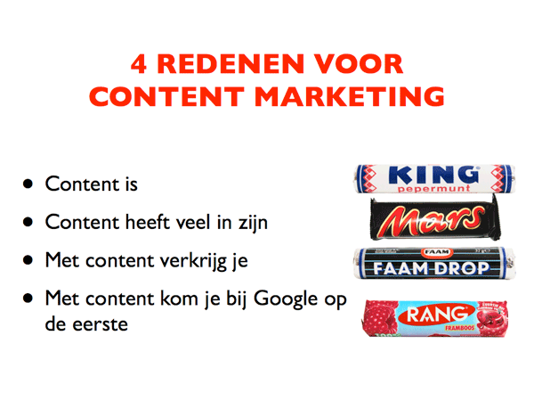 Content is Snoep - door Arend Landman