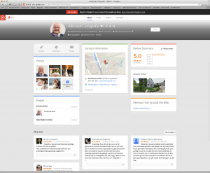 Google+ met 3 kolommen