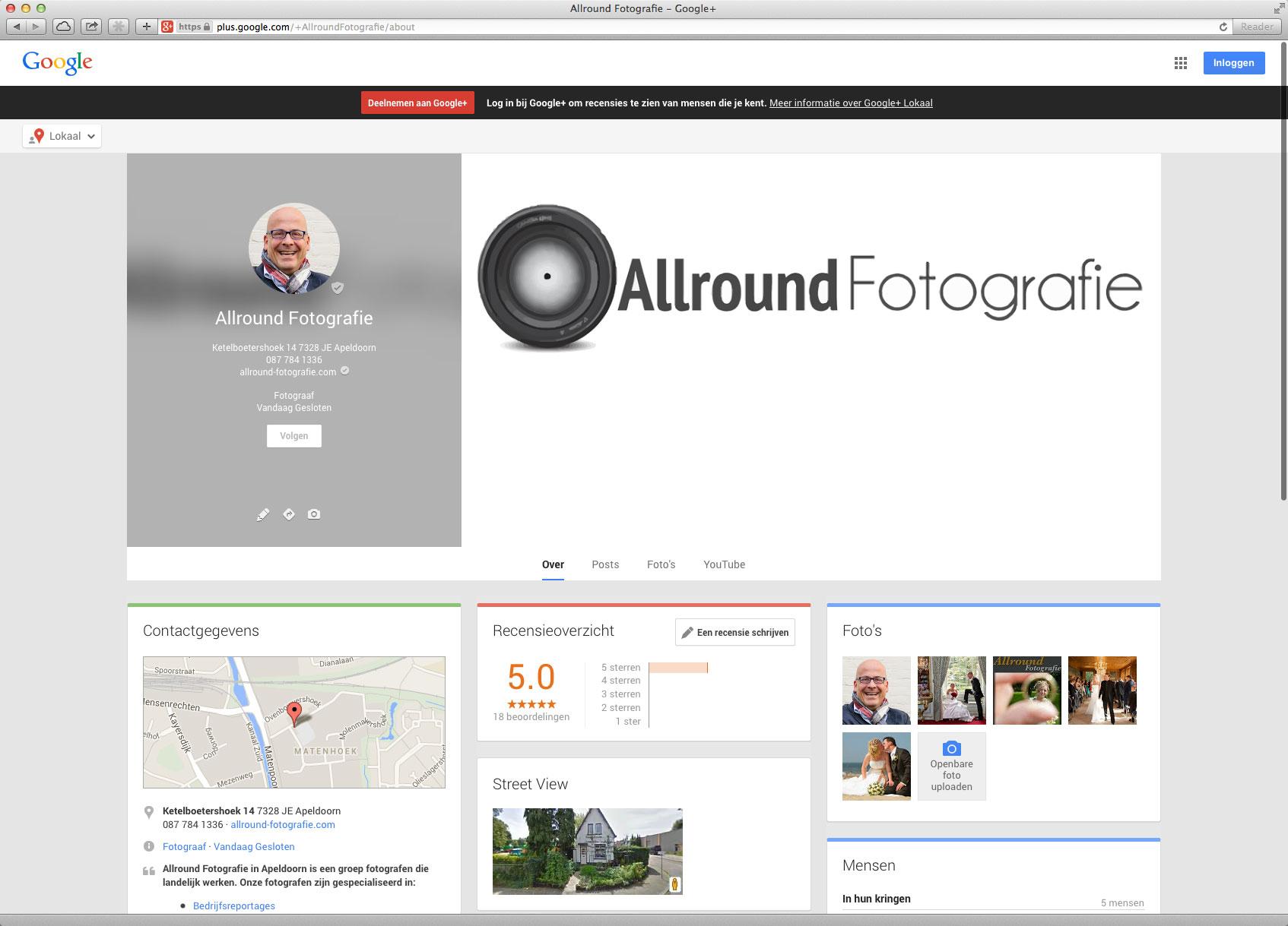 Allround Fotografie op Google+