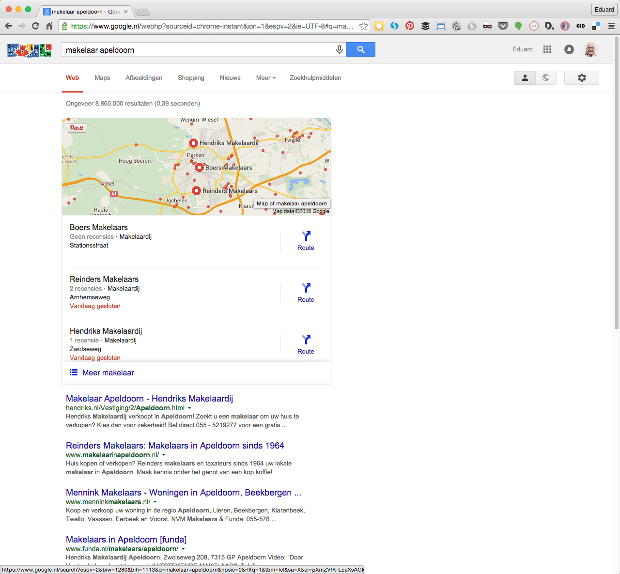 Makelaar Apeldoorn op desktop
