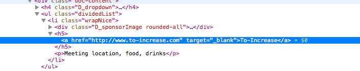 Meetup source code