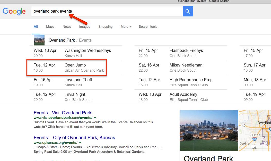 Hoe krijg je de evenementen van een Google Calendar in de zoekresultaten?