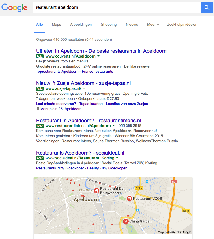 Groene advertenties in Google?
